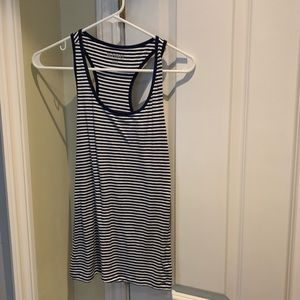 Old Navy Tank Top Navy Striped